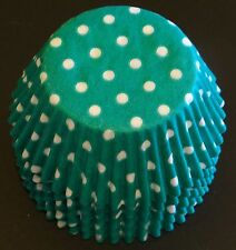 50 Green & White POLKA DOT Cupcake Liners Baking Cups STANDARD SIZE BC-22-50 NEW