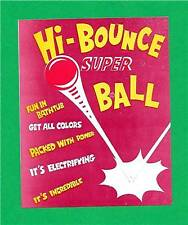 Old Hi Bounce Super Ball Toy Vending Machine Sign