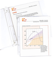 C Line Top Loading Standard Weight Poly Sheet Protectors Clear 85 X 11 100