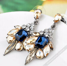 Silber Ohrringe 1 Paar Ohrhänger Kristall Diamanten Ohrstecker Luxus  LA FERANI