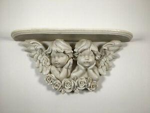 Vintage Retro Style Cherub / Angels Resin Shelf Wall Mount Decor Home Decor