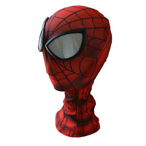 Man Spider-man Mask with Lenses Halloween Birthday Party Accessories