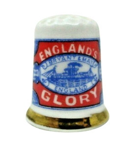 Finsbury Englands Glory Bryant  and May THIMBLE Fine Bone China