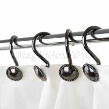 European Bronze Zinc Alloy Metal Shower Curtain Hook Vintage Shower Curtain Ring