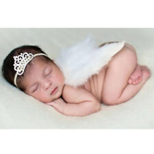 Newborn Baby Costume Leaf Headband+Angel Wings Photo Photography Props Crown