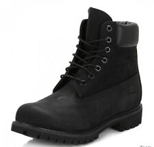 Timberland Mens Black Premium 6 Inch Nubuck Leather Boots UK 6W EU 39.5 LN04 15