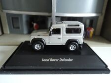 WELLY  LAND ROVER  DEFENDER  SILVER    1/87  HO  DIE CAST