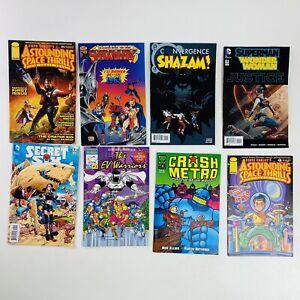 Lot of 8 Assorted Comics EV Warriors, Crash Metro Shazam Secret Six Shadowhawk