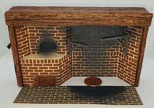 Poupée Miniature Colonial Brique Promenade en Cheminée 1:24 / Demi Échelle