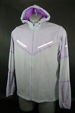 New Mens Large NIKE Stay Dri Gray Purple Zip Running Hoody Track Jacket $150