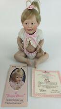 Ashton Drake All Porcelain Collectors Doll, Cute As A Button #492B