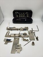 Antique Vtg Sewing Machine Attachments New Home With Case