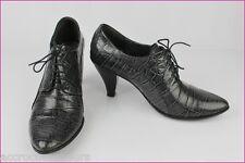 Escarpins Boots BOCAGE Cuir Gris façon Croco T 40 TTBE