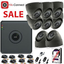 8CH 4CH 1080P CCTV DVR HDMI 2.4MP Outdoor Camera Home Video Security System Kit