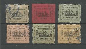 VENEZUELA  1903 LOCALS  GUYANA SHIPS  6 VALUES   USED   FORGERIES
