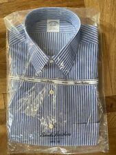 Brooks Brothers Men's Blue Striped Dress Shirt  15-1/2 x 33 NEW IN PACKAGE