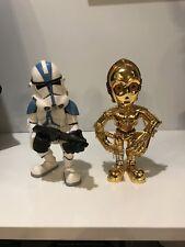 Star Wars Clone Trooper 2006 SDCC Exclusive & C3PO Medicom Toy Sideshow Figure