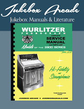 NEW! Wurlitzer 2800. 2810 Service Manual, Parts List & Trouble Shooting Guide
