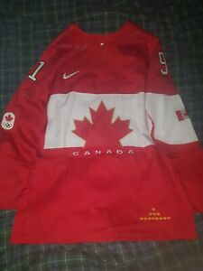 Steven Stamkos Team Canada 2014 Sochi Winter Olympics Hockey Jersey L Red