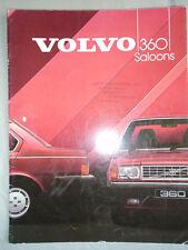 Volvo 360 Saloons range brochure 1984