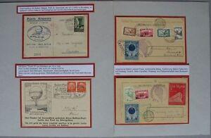 BP36) Ballonpost + Abwurfkarten 7 Bp-Belege 1927 - 1939 Ausstellungssammlung