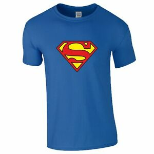 Superman T-Shirt DC Comics Logo Superhero Movie Birthday Gift Christmas Mens Top