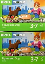 Brio World Figure And Dog With Food Bowl #33952 (2) sets- creased box