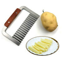 Practical Potato Crinkle Cutter Stainless Steel Wavy Chip Cutter Kitchen Tool