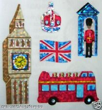 *SUPER RARE* Sandylion Shiny LONDON ATTRACTIONS Stickers VINTAGE FAST SHIP H15