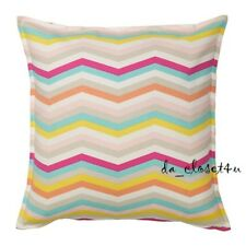 """IKEA Cushion Cover Sommar 2018 Square Pillow Cover 20x20"""" ZigZag Multicolor NEW"""