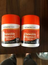 X2 30 Tablets vitamin C chewable/high Strength Immune Heath Vitaminstore