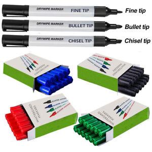 Whiteboard Marker Dry Wipe Pens ✔3 Tips ✔4 colours ✔Board Metal Glass Wipe Clean