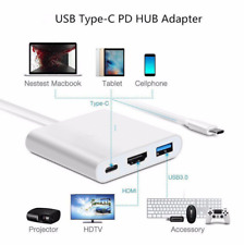 Type C to USB-C HDMI USB 3.1 Converter Adapter Cable 3 in 1 Hub For MacBook Pro