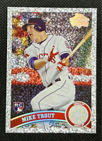 2011 Topps Update DIAMOND💎 MIKE TROUT💎 Diamond Anniversary💎 ROOKIE RC #US175