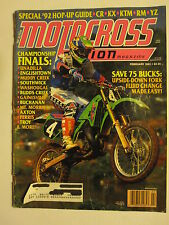 February 1992 MOTOCROSS ACTION Magazine moto x dirt bike racer