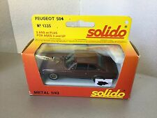 VINTAGE#SOLIDO VINTAGE PEUGEOT 504 RALLY COUPE'  1:43 Scale #NIB