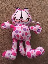 Nice Garfield Odie Toy Factory pink purple white dot plush stuffed cat kitty NWT