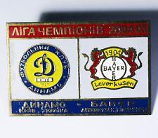 Match Badge Pin Dinamo Dynamo Kiev Ukraine Bayer Leverkusen Germany  2004/2005