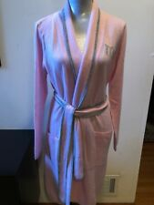NEW Philosophy Cashmere  Pink/Gray MRS. 100% Cashmere Robe Size M