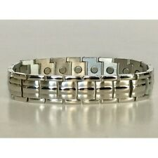 "Bracelet Pro Health 5000Gauss Magnets 8 3/4"" Men Stainless Steel Magnetic"