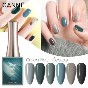 CANNI UV Nail Gel Polish GREEN FIELD SERIES Shimmer Varnish Soak Off LED 16ML
