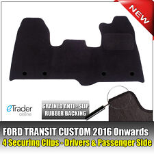 Ford Transit Custom Carpet Mats Mat Set 2015 > 4 Clips P/S & D/S Front Tailored