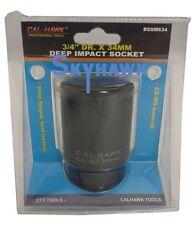 "3/4"" DR. X 34mm DEEP IMPACT SOCKET 6 POINT SKTchrome vanadium CR-MO MATERIAL"