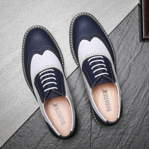 Men Fashion Office Business Formal Brogue Dress Shoes Wedding Comfy Casual Shoes