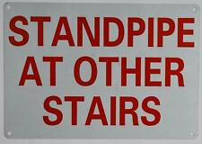 Standpipe at Other Stairs Sign (Reflective ! Red, 7X10)