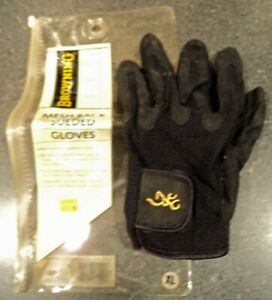 Browning meshback black suede single left hand size XL Shooting Glove NOS