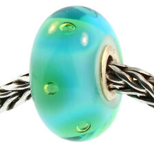 Authentic Trollbeads Glass 61168 Turquoise Bubbles *0 Retired