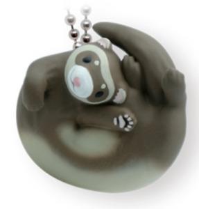 Rolling Ferret Pet Animal PVC mini figurine Figure Model Keychain A