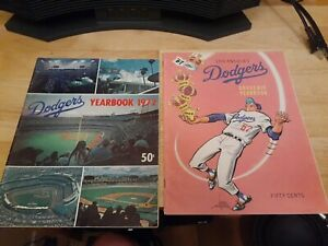 1967  and 1972 Los Angeles Dodgers MLB Baseball Official Souvenir Yearbook