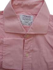 TM LEWIN 100 Shirt Mens 15.5 M Pink